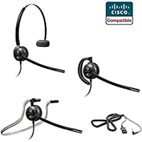 Linksys Cisco SPA Compatible Plantronics EncorePro 540 Headset - SPA Series Cisco 303 501G 502G 504G 508G 509G 512G 514G 525G 525G2 921 922 941 942 962