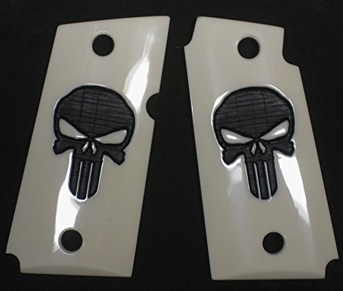 DURAGRIPS - Kimber Micro Carry 9mm 9 Grips - PUNISH'R (Smooth, Faux Ivory, Flat TOP)