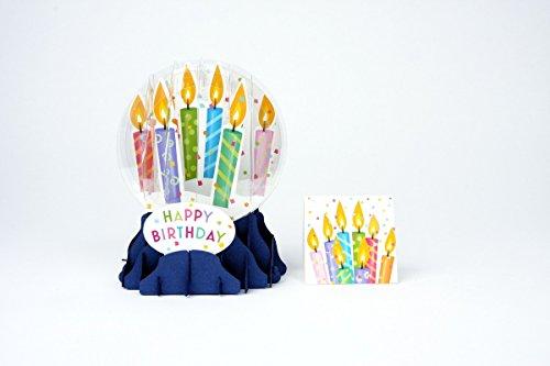 3D Snow Globe - BIRTHDAY CANDLES - Birthday -