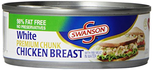 Swanson White Premium Chunk Chicken Breast, 4.5 Ounce (Pack of 24)
