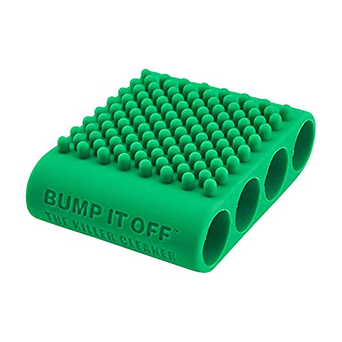 Bump It Off Silicone Cleaning Scrubber Brush for Fabric, Kitchen, Pets, Body, Beauty | Green