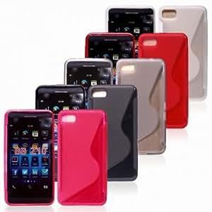 S Line Wave Silicone Gel Protective Case For Blackberry Z10 --- Color:Black