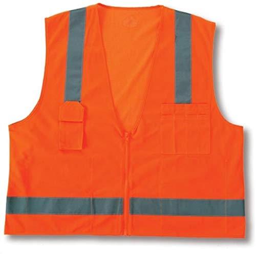 FashionFirst Class 2 Economy Surveyors Vest - Large & XLarge - Orange from FashionFirst