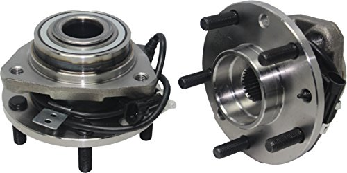 (4x4 Models (Pair) New Front Wheel Hub and Bearing Assembly Set 5 Lug W/ABS [97-05 Blazer 4x4] [97-04 S10 4x4] [97-05 Jimmy 4x4] [97-04 Sonoma 4x4] [98-00 Hombre 4x4] [97-01)