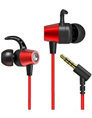 Qingta Earphones, In-ear Earbuds Noise Isolating Headphones with Mic and Remote Control Wired Earphones for iPhone iPad iPod Samsung Laptop Tablet and Other Android Devices