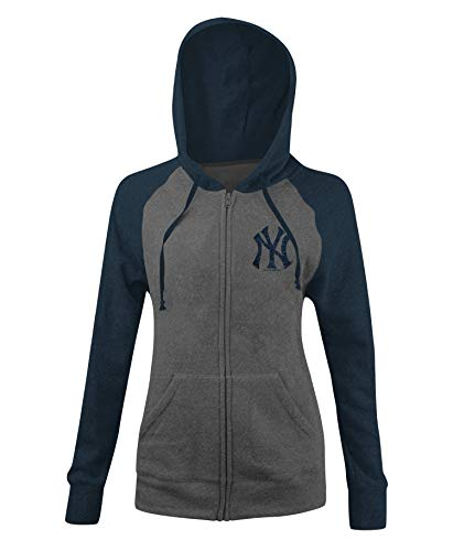 New Era New York Yankees Women's MLB Double Tri-Blend Hooded Sweatshirt
