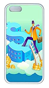 iPhone 5 5S Case Boarded The Peak Earning Dollars TPU Custom iPhone 5 5S Case Cover White