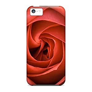 First-class Case Cover For Iphone 5c Dual Protection Cover A Perfect Rose