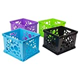 Storex174; Mini Storage Crates, 3ct - Multicolor Multicolor