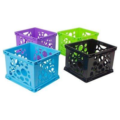 Storex174; Mini Storage Crates, 3ct - Multicolor Multicolor by Storex