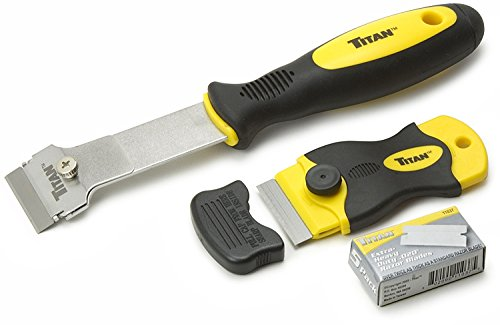 (Titan Tools 17002 2-Piece Multi-Purpose Razor Scraper Set with Extra Razor Blades)