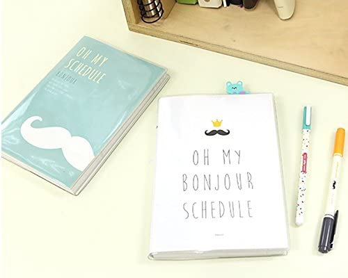 Bonjour 2016 Undated Planner Cute Korean Stationery Monthly ...