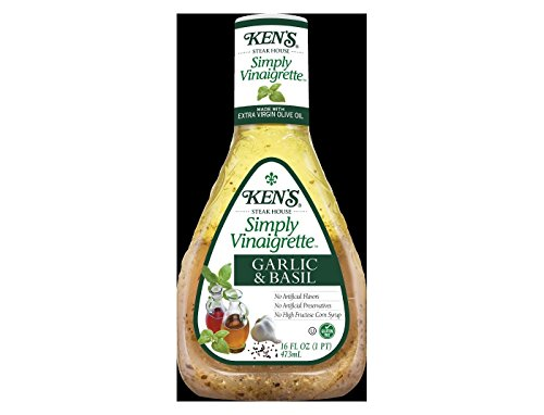 Ken's Simply vinaigrette garlic & basil Salad Dressing 16fl oz, pack of - Basil Vinaigrette
