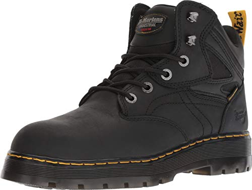 (Dr. Martens Work Men's Plenum WP ST 6-Tie Boot Black 9 D UK )