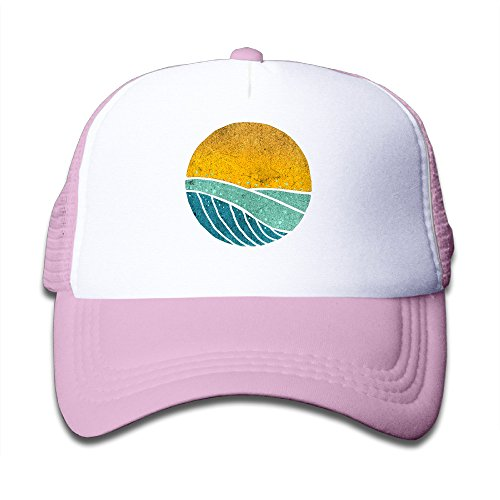 (Vintage Sea Wave On Tides Sports Mesh Baseball Caps Small Hats For Kids)