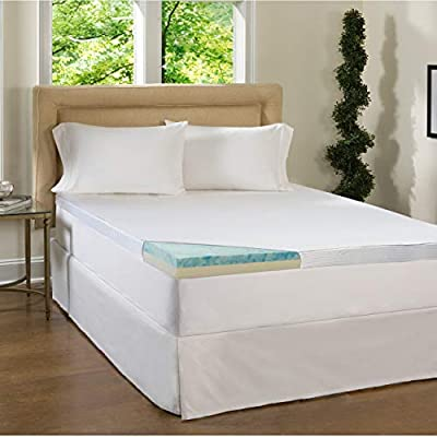 Simmons Beautyrest Comforpedic Loft from Beautyrest 2 Piece 2-inch Flat Select Gel Memory Foam Mattress Topper with Cover