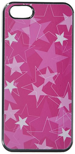 Graphics and More Stars Hot Pink - Snap-On Hard Protective Case for Apple iPhone 5/5s - Non-Retail Packaging - Black