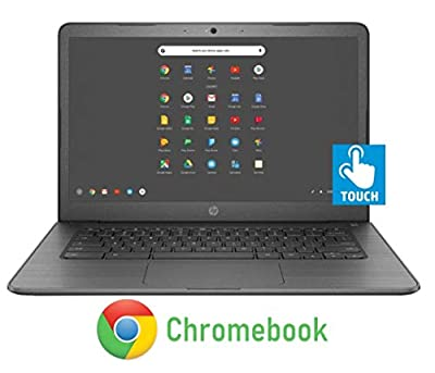 Newest HP 14-inch Chromebook HD Touchscreen Laptop PC (Intel Celeron N3350 up to 2.4GHz, 4GB RAM, 32GB Flash Memory, WiFi, HD Camera, Bluetooth, Up to 10 hrs Battery Life, Chrome OS , Black )