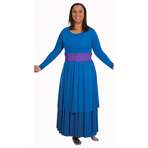 Body Wrappers BT4 Praise Dance Sequin Cummerbund (2X / 4X, Purple) (Dance Worship Costumes)