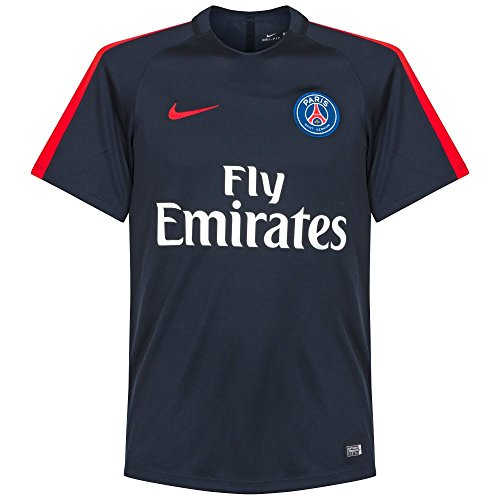 Nike Mens Paris-Saint Germain Pre-Match Jersey-DARK OBSIDIAN (S)