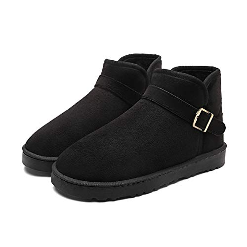 (GanQuan2018 Men's Ankle Boots Fashion Breathable Strap Buckle Slip On Warm Snow Boot)
