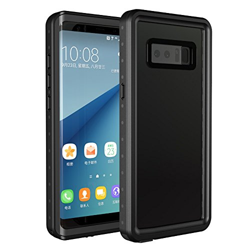 Galaxy Note 8 Waterproof Case, Tomplus IP68 Certified Transparent-back Shockproof Protective Full Body Cover SnowProof, DustProof Case for Samsung Galaxy Note 8 - Lenses Unicorn