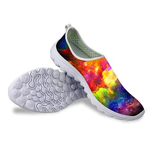 Voor U Ontwerpt Kleurrijke Mode Galaxy Print Unisex Casual Mesh Water Schoenen Voor Vrouwen Mannen Galaxy-3