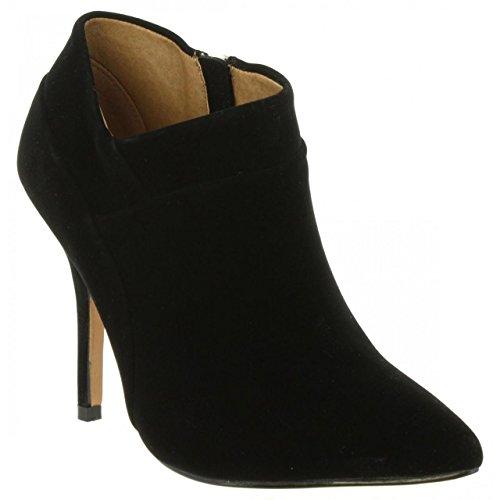 à Basic Rouge Fermé Mare Maria Calzado Bout Femme Talon Señora Chaussures Noir avec wFXqP5g