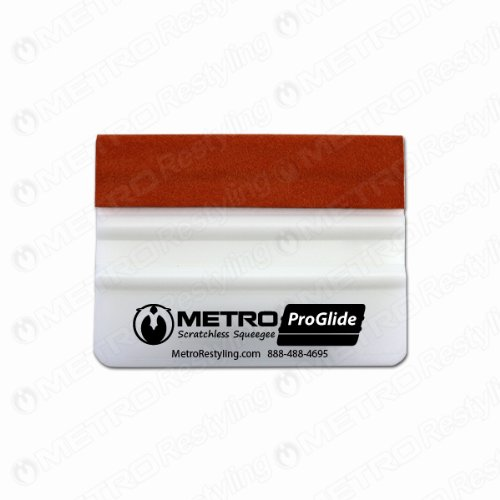 Metro ProGlide Scratchless Squeegee Teflon Suede Edge for Car Wraps 4 Inch METRORESTYLING METROPROGLIDE