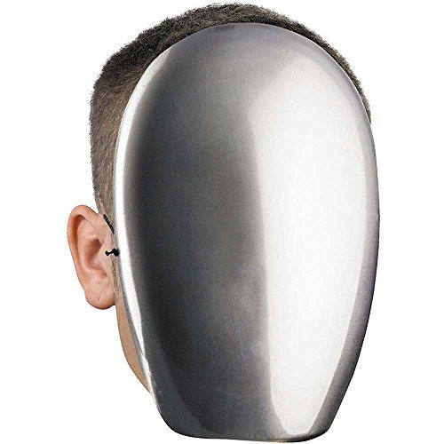No Face Chrome Mask Costume Accessory