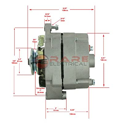 NEW CHROME CHEVELLE ALTERNATOR FITS 110 AMP 3 WIRE 65-85 SELF EXCITING ENERGIZING: Automotive