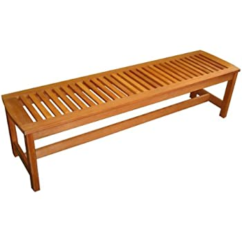 Marvelous This Item Arboria Outdoor Bench Backless Large 5 Foot Length Premium  Hardwood Easy Assembly