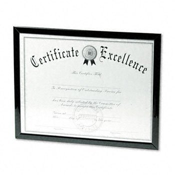 - DAX® Value U-Channel Document Frame FRAME,DIPLOMA,8.5X11,BK 3484TH (Pack of20)