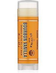 Olivina Men Lip Balm, Bourbon Vanilla, 0.15 oz.