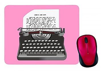 """Alfombrilla de ratón """"Máquina de escribir jahrgang de de entrada de Retro de"""