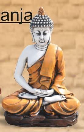 Buda de PIedra con Toga Naranja: Amazon.es: Jardín