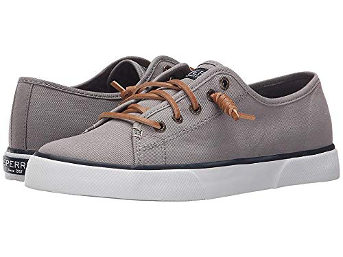 Sperry Womens Pier View Sneaker, Grey, 8 (Best Casual Shoes To Wear With Skinny Jeans)