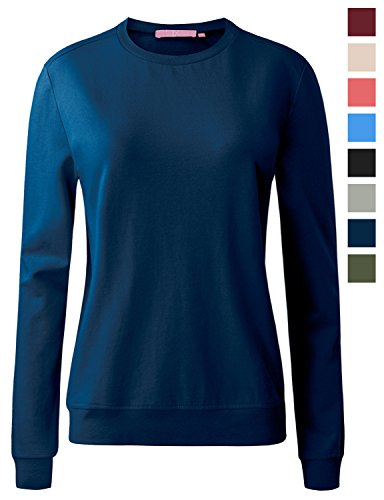 REGNA X womens crewneck long sleeve cotton pullover pullover sweatshirts