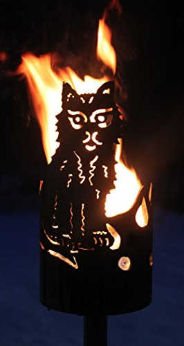 Katze Fackel - Set mit Stiel und Brennmitteln