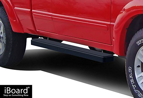 APS iBoard Running Boards (Nerf Bars | Side Steps | Step Bars) for 1998-2011 Ford Ranger/Mazda B-Series Super Cab Pickup 2Dr | (Black Powder Coated 5 inches)