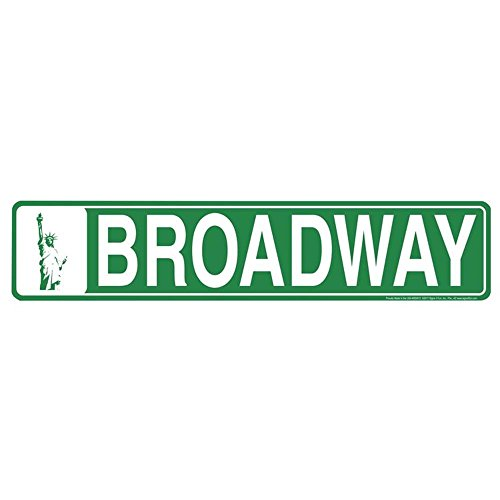 Signs 4 Fun SSNY2 NY Broadway Street Sign -