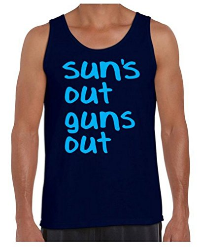 Awkwardstyles Suns Out Guns Out Tank Top Funny Gym Shirt + Bookmark