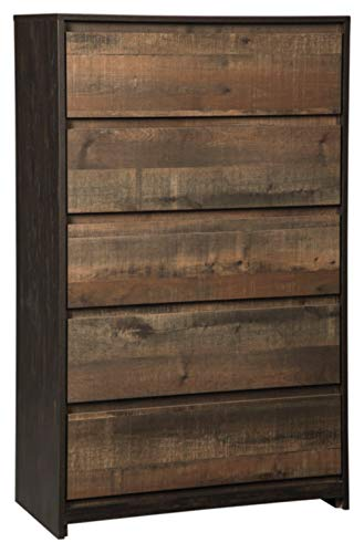 - Ashley Furniture Signature Design - Windlore Chest of Drawers - Dark Brown