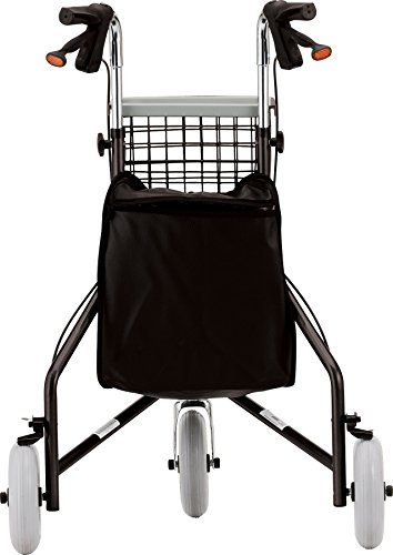 NOVA Traveler 3-Wheeled Rollator Walker, Black