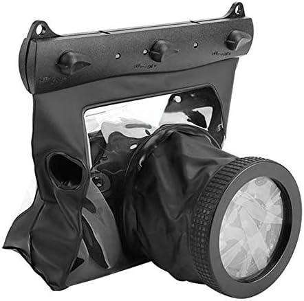wasserdichte Kamera Gehäuse 20 Meter Unterwasser Schutzhülle Tasche für Canon Nikon DSLR SLR Mirrorless Kamera(Schwarz)