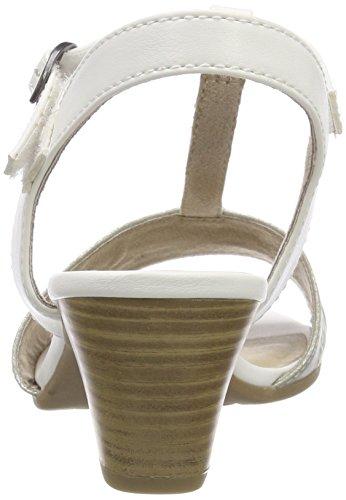 Vertical Softline Sandalias Blanco con White Mujer Tira Silver para 28360 1WWZnHAg