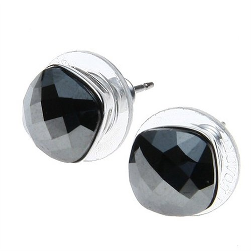 3b97375bf7ecb Swarovski Women's Earrings Jet Hematite Crystal Lea 1046892