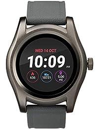 TW5M31600 Gunmetal Round Smartwatch, Gray Silicone Strap