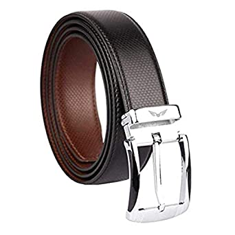 Axe Style Men's Artificial PU Leather Casual and Formal Reversible Belt (Black/Brown , Size 28-44 )