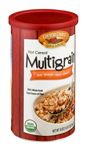 Country Choice Organic Hot Cereal Multigrain Rye-Barley-Oats-Wheat 18 OZ (Pack of 18)